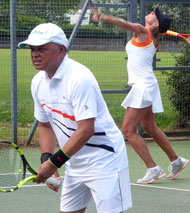 Lindfield tennis - on court